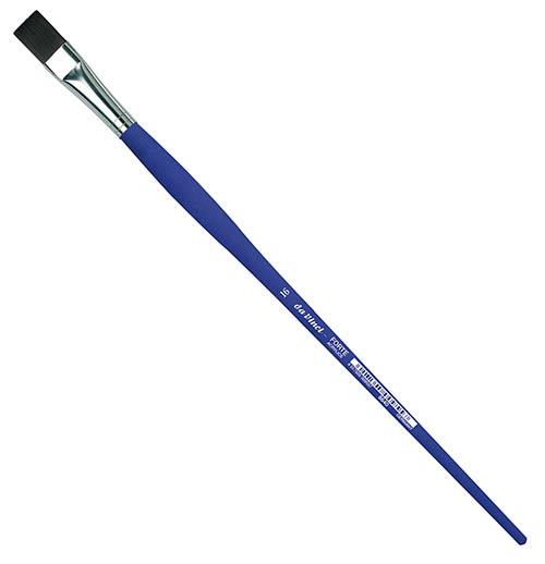 Купить Кисть синтетика №16 плоская Da Vinci 8640 длинная ручка, Германия