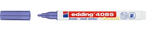 Купить Маркер меловой Edding 4085 1-2 мм с круглым наконечником, фиолетовый металлик, Германия
