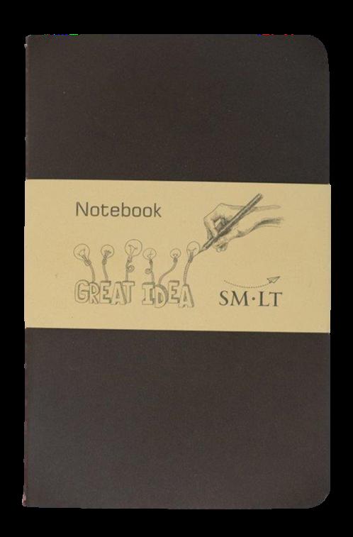 Купить Блокнот для эскизов и зарисовок Smiltainis Stitched colored notebook 13, 5x21 см 48 л 80 г, Литва
