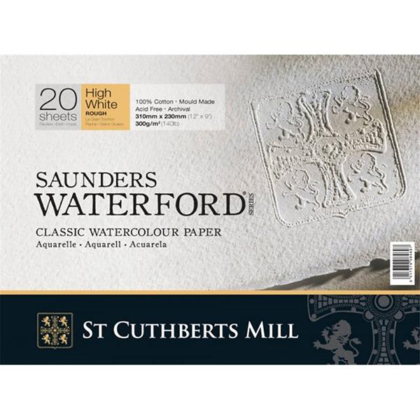 Купить Альбом-склейка для акварели Saunders Waterford, 100% хлопок, 300 гр/м2, разные фактуры, St Cuthberts Mill, Великобритания