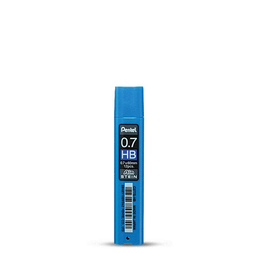 Набор грифелей для механического карандаша Pentel Ain Stein 12 шт 0, 7 мм, HB, Япония  - купить со скидкой