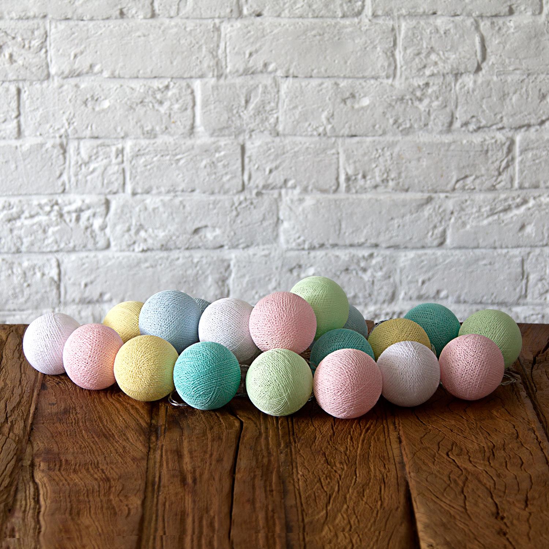 Купить Гирлянда из хлопковых шариков Lares & Penates бейби 20, от батареек, Lares & Penates
