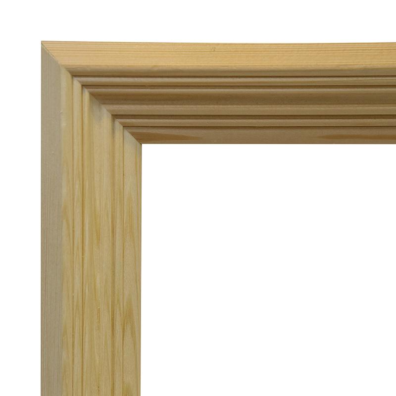 Рама 18х24 см деревянная некрашенная (ширина багета 4,3 см) фото