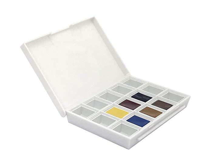 Купить Набор акварели Daniel Smith Sketcher , в кюветах 6 цв + 9 пустых кювет, США