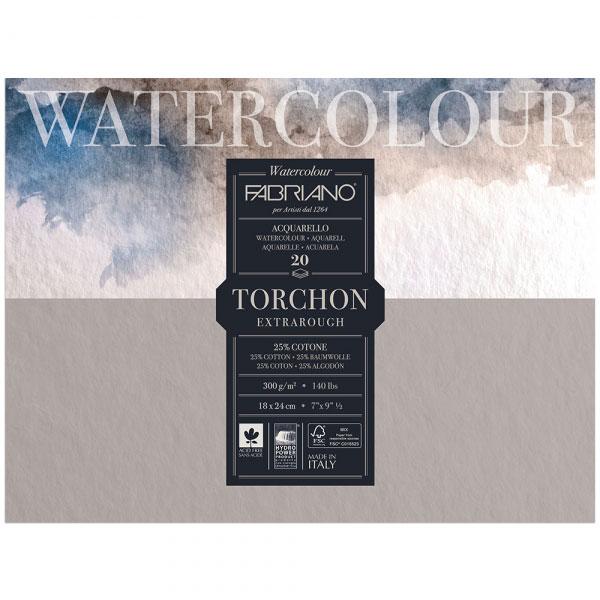 Купить Альбом-склейка для акварели Fabriano Watercolour studio Торшон 18x24 см 20 л 300 г, Италия