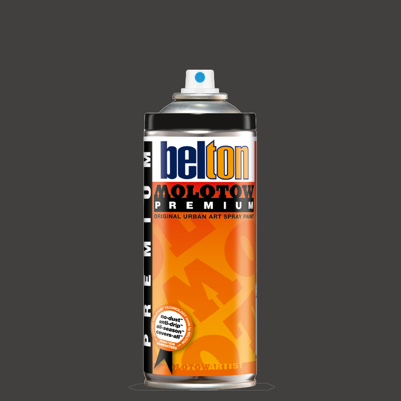 Купить Аэрозольная краска Molotow Premium belton 400 мл #215 black grey neutral, Германия
