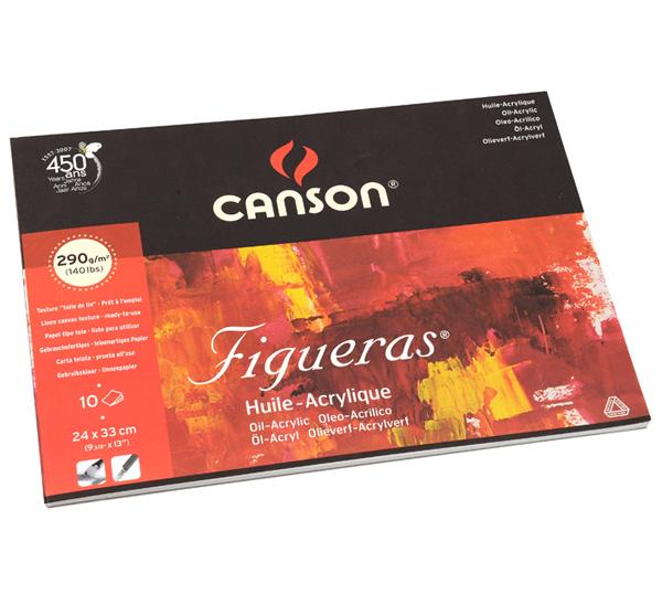 Купить Альбом-склейка для акрила и масла Canson Figueras 24х33 см 10 л 290 г, , склейка по короткой стороне, Франция