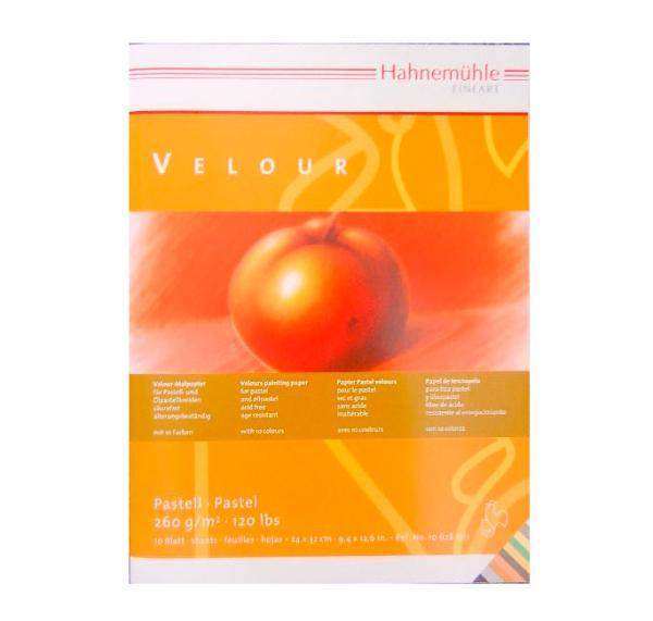 Купить Альбом-склейка для пастели Hahnemuhle Veloure 24х32 см 10 л 260 г 10 цветов, HAHNEMUHLE FINEART, Германия