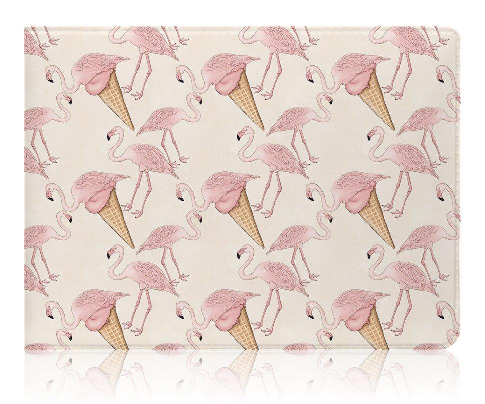 Купить Обложка для студенческого Flamingo Ice cream , iLikeGift, Китай