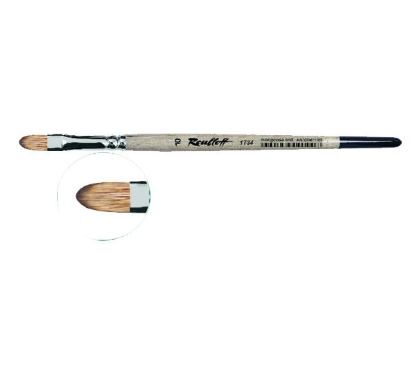 Купить Кисть синтетика мангуст имитация №14 овальная Roubloff 1Т34 короткая ручка, Россия