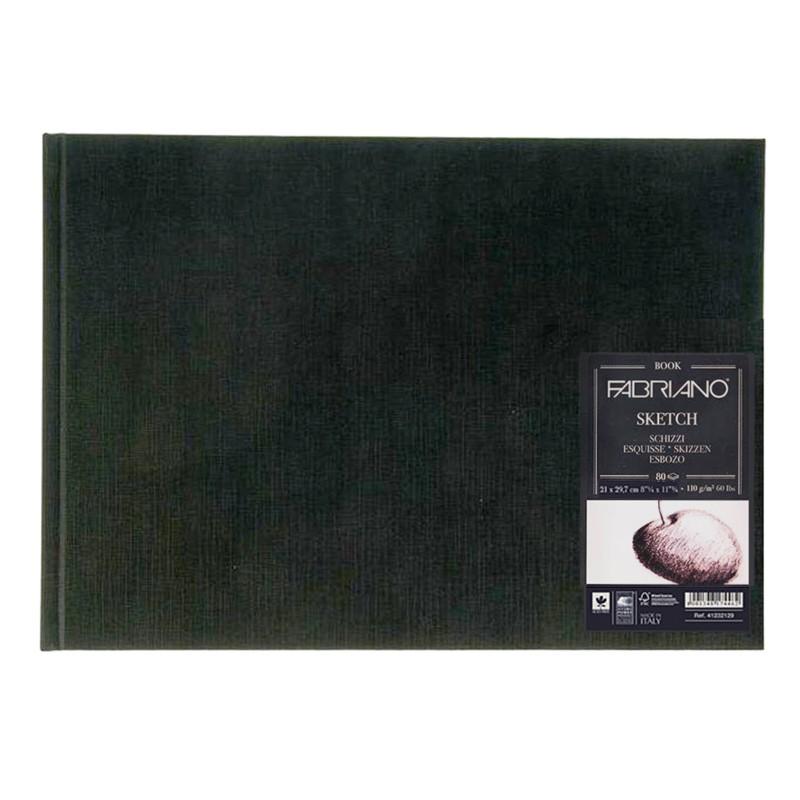 Купить Блокнот для эскизов Fabriano Sketch 21x29, 7 см 80 л 110 г твердая обложка, Италия