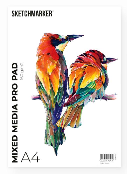 Купить Альбом-склейка для смешанных техник Sketchmarker Mixed media pro А4 30 л 160 г, Япония