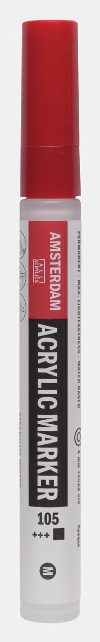 Купить Маркер акриловый Talens Amsterdam 4 мм №105 Белила титановые, Royal Talens, Россия