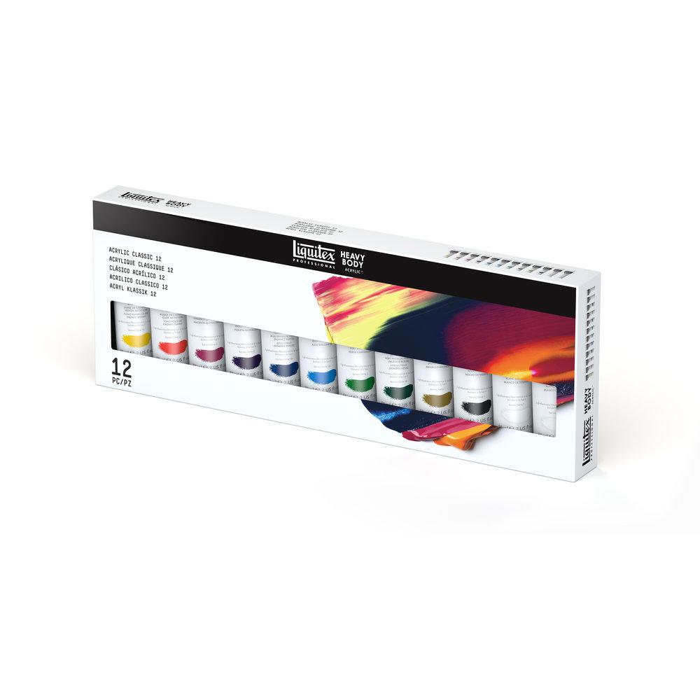 Набор акрила Liquitex Acrylic classic 12 цв*59 мл, США  - купить со скидкой