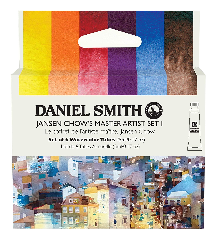 Купить Набор акварели Daniel Smith Jansen Chow's Master Artist Set I, в тубах 6 цв*5 мл, США