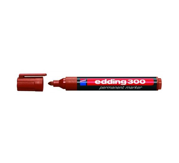 Купить Маркер перманентный Edding 300 1, 5-3 мм с круглым наконечником, коричневый, Германия
