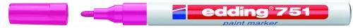 Купить Маркер декоративный лаковый Edding 751 1-2 мм с круглым наконечником, розовый, Германия