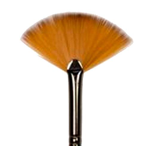 Купить Кисть синтетика №16 веерная Черная речка длинная ручка бук, Россия