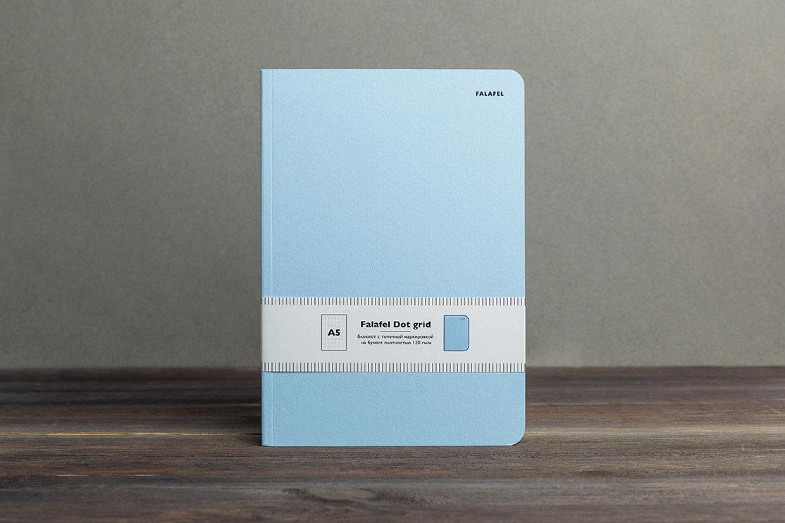 Купить Блокнот для записей FALAFEL BOOKS А5 Light blue, Россия
