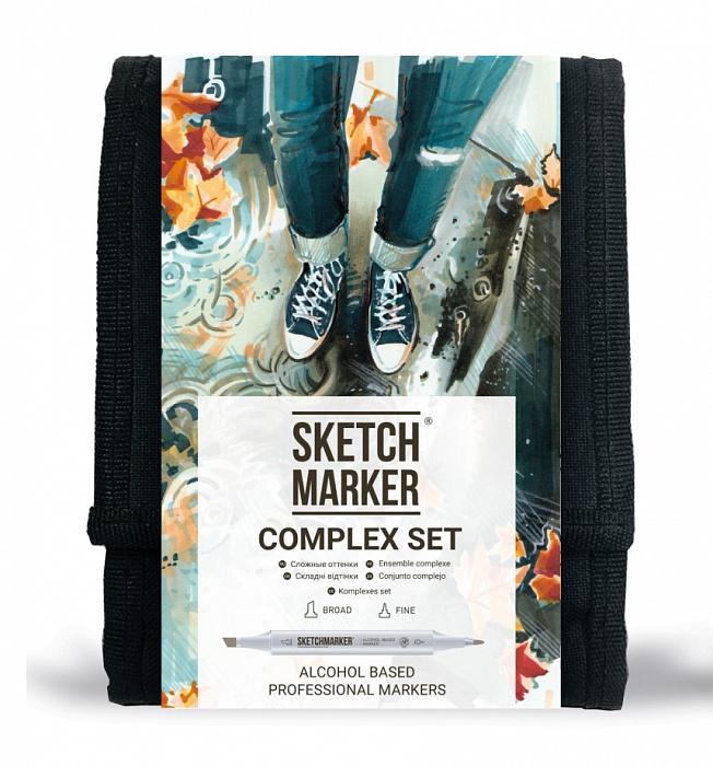 Купить Набор маркеров Sketchmarker Complex set 12 шт, Япония