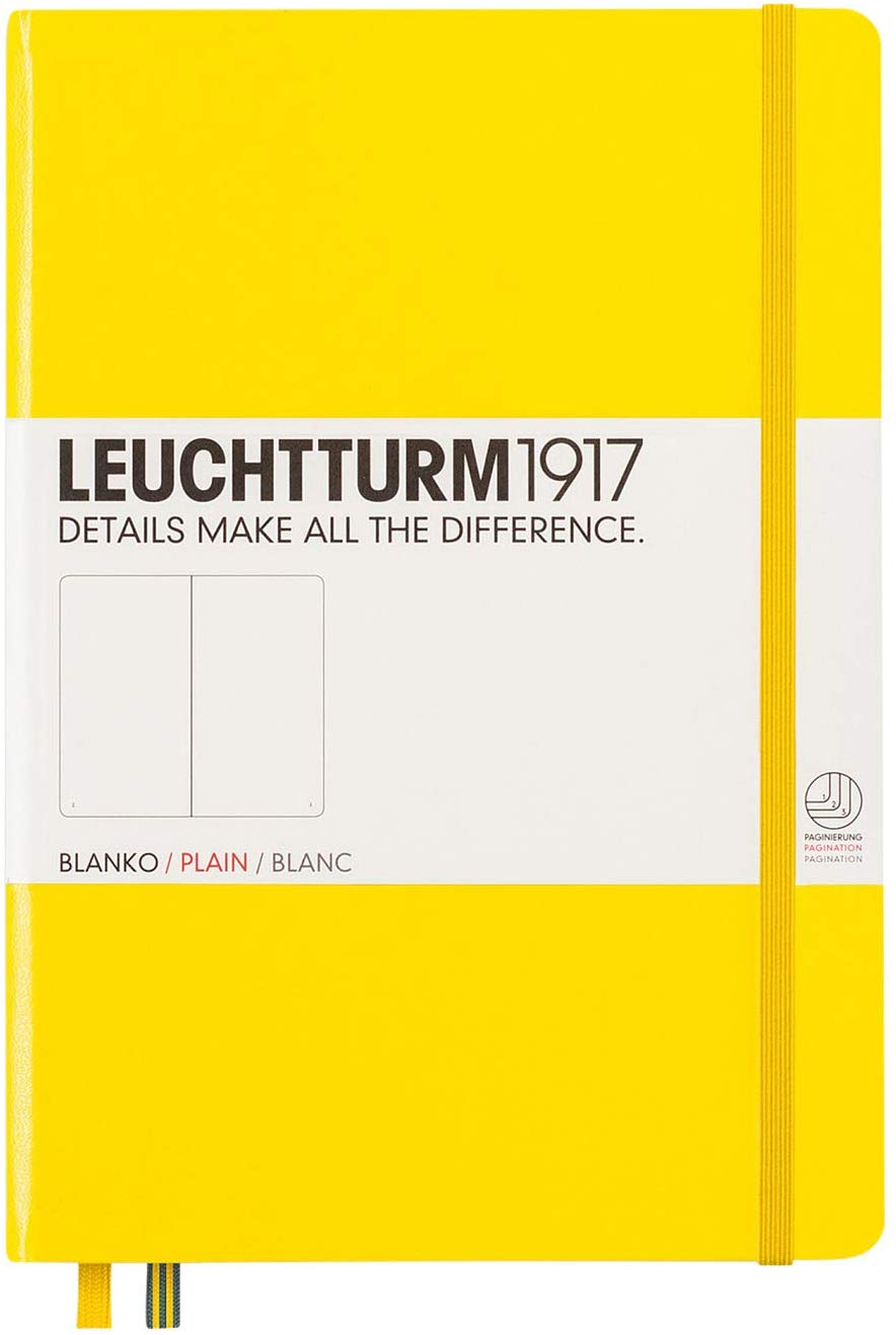 Купить Книга для записей нелинованный Leuchtturm1917 MEDIUM А5 249 л лимонный, Россия