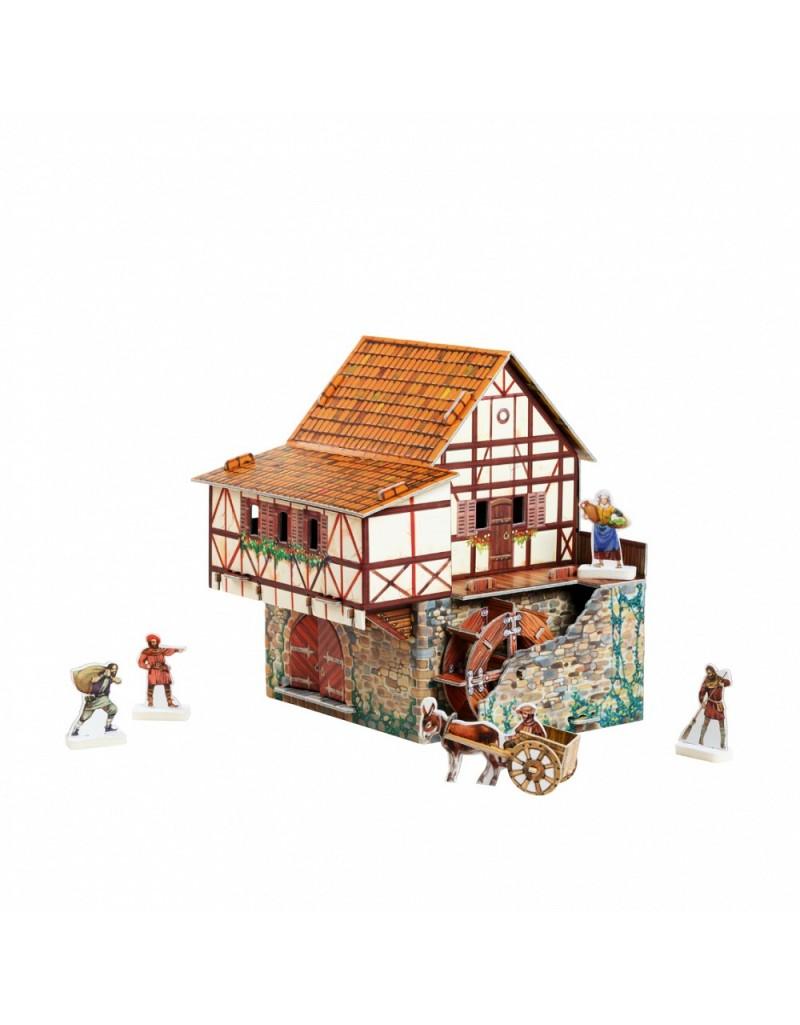 Купить Игровой набор из картона Средневековый город Водяная мельница , Умная бумага, Россия