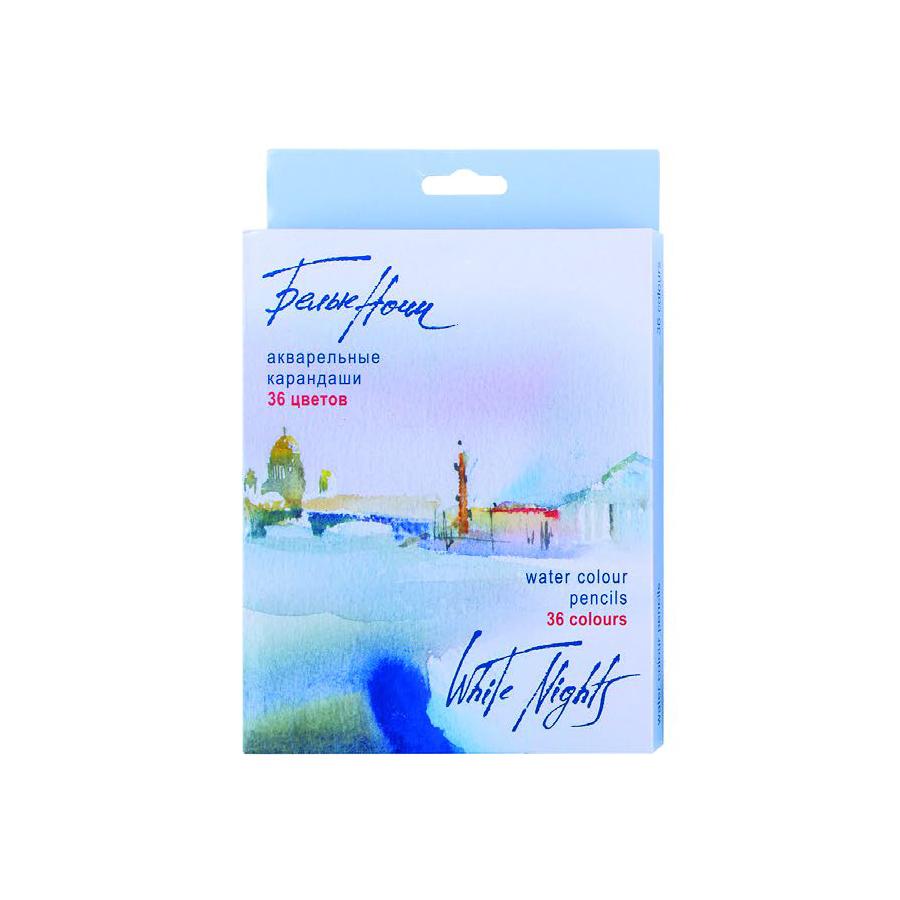 Купить Набор карандашей акварельных Белые Ночи 36 цв, в картонной коробке, Невская Палитра, Россия