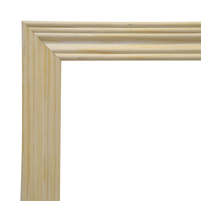 Рама 24х30 см деревянная некрашенная (ширина багета 2,2 см) фото