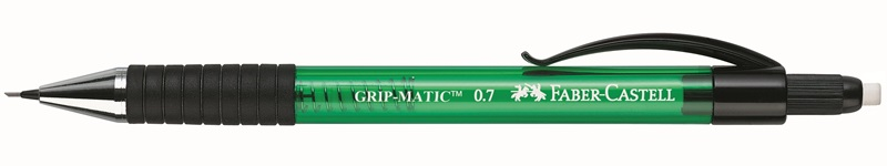 Купить Карандаш механический Faber-Castell GRIP MATIC 1375 0, 7 мм, зеленый, синий корпус, Faber–Сastell, Германия