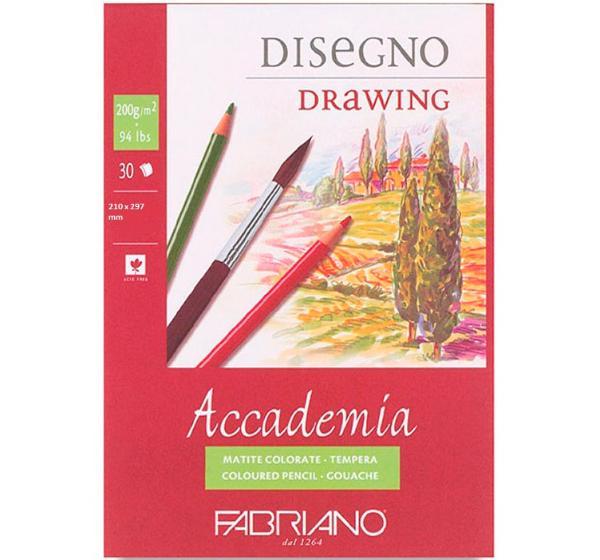 Купить Блокнот-склейка для графики Fabriano Accademia А5 30 л 200 г, Италия
