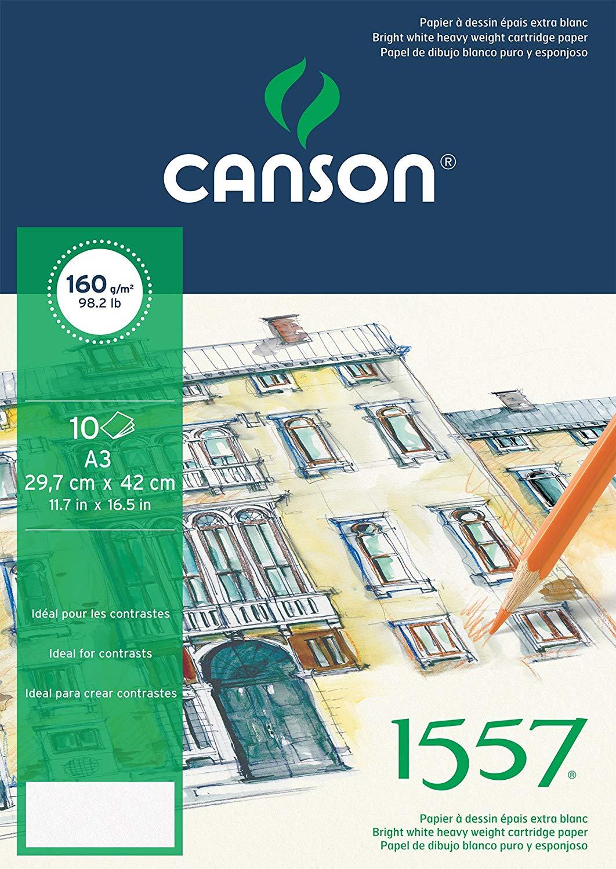 Купить Папка для графики Canson 1557 29, 7х42 см 10 л 160 г, мелкое зерно, Франция