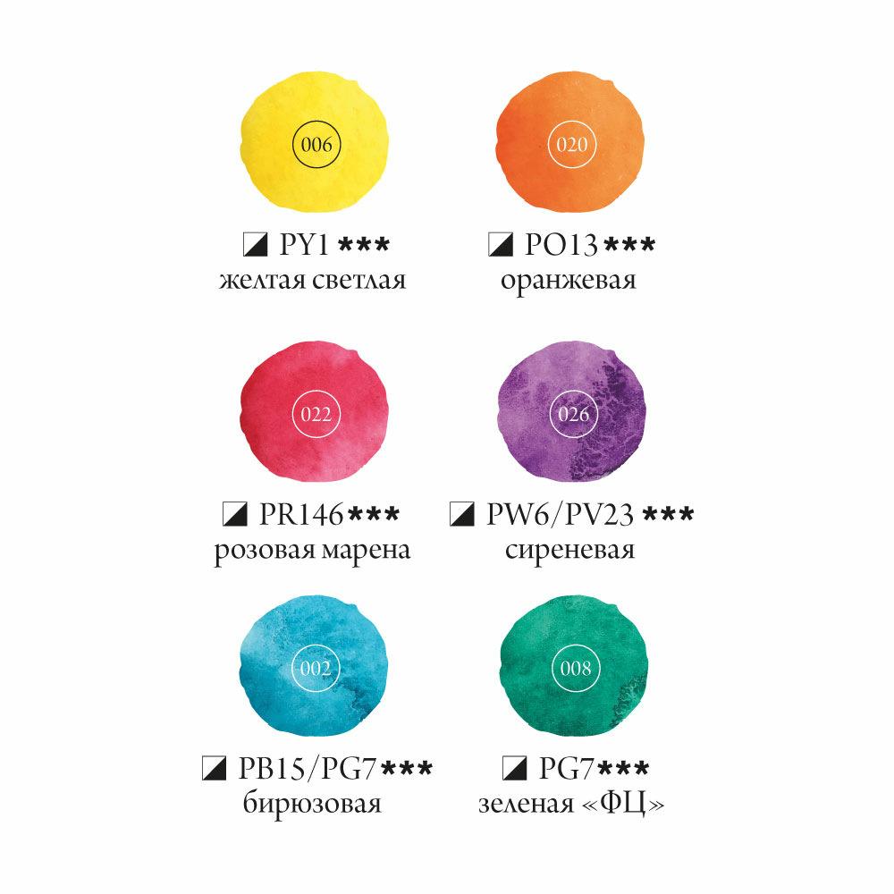 Купить Набор акварельных красок Малевичъ Frida COSMO 6 цв*12 мл, Россия