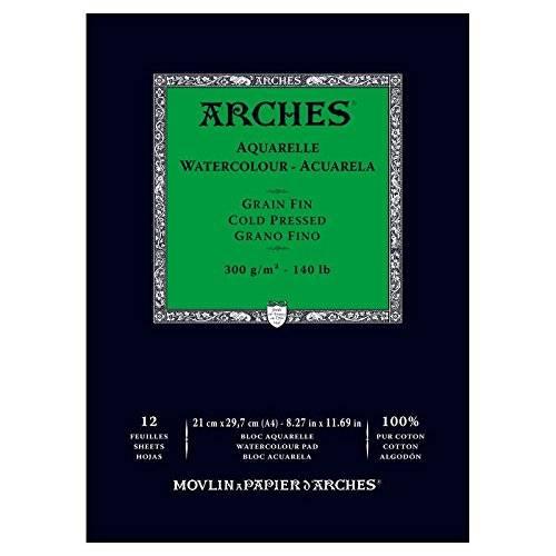 Купить Альбом-склейка для акварели Canson Arches Fin 21x29, 7 см 12 л 300 г, Франция