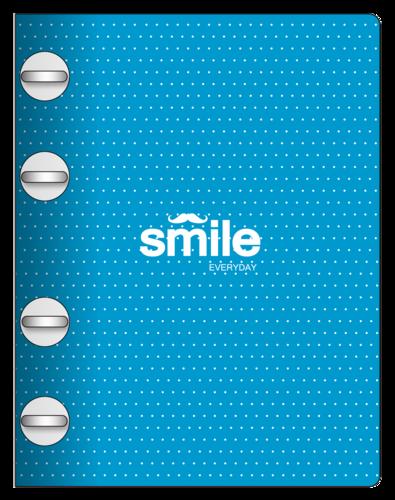 Купить Тетрадь Smile с кольцевым механизмом А5 120 л, пластик, Be Smart, Россия