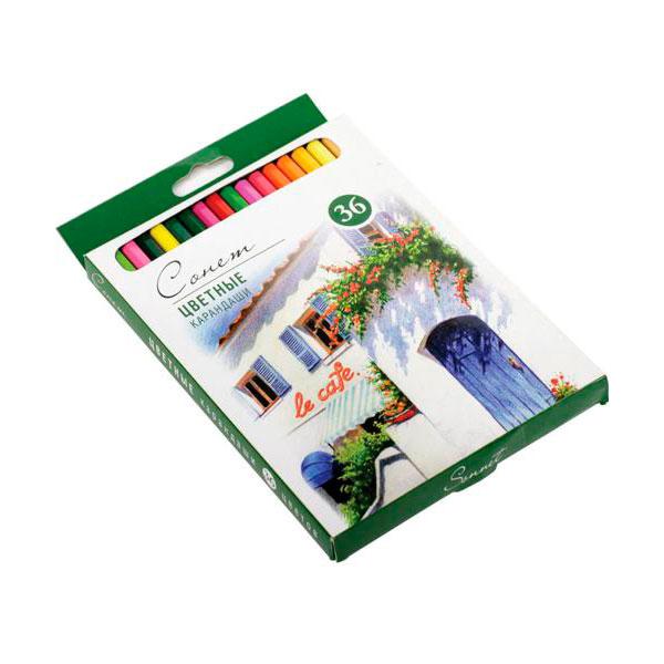 Купить Набор карандашей цветных Сонет 36 цв, Россия