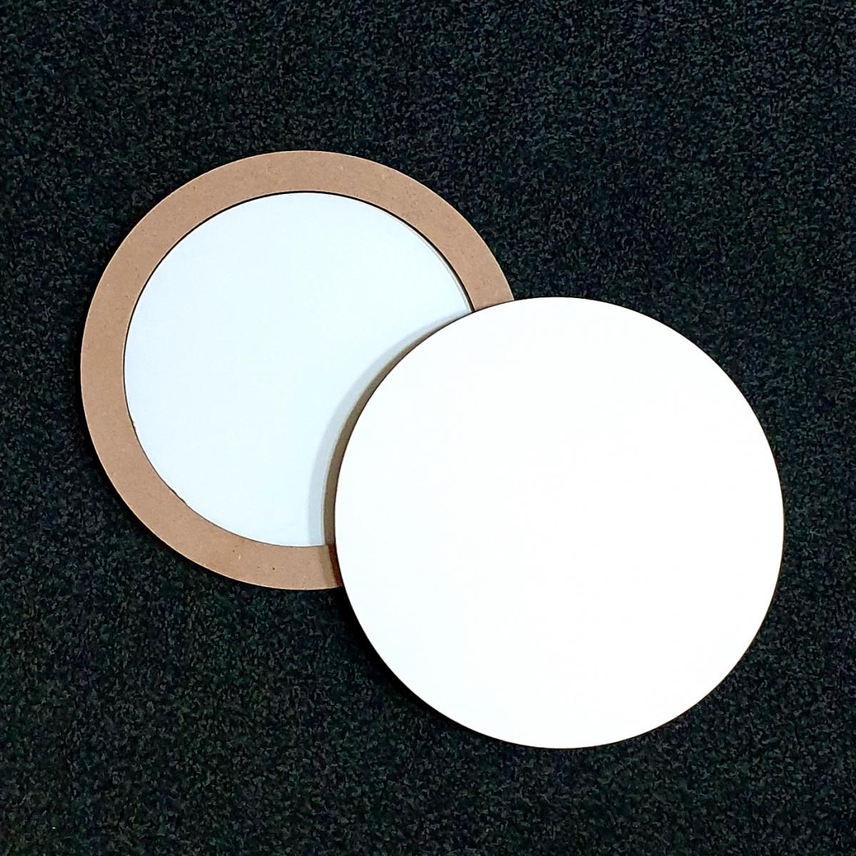 Купить Двусторонняя основа для картины на подрамнике с усилением 0, 5 см - форма круг 30 см, ResinArt, Франция
