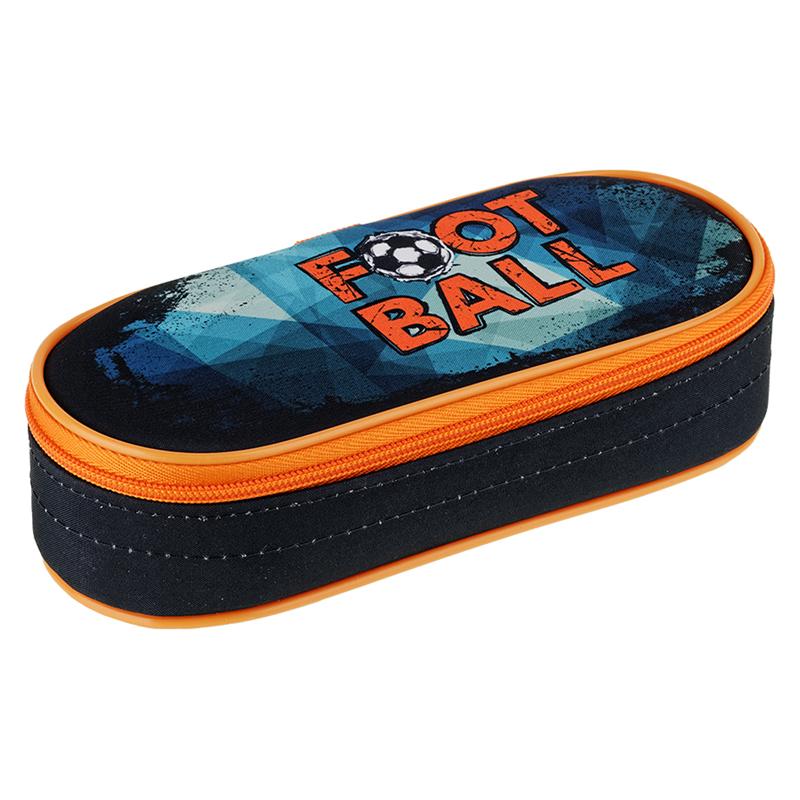 Купить Пенал-футляр корпусный Berlingo Football 210*85*50 мм, полиэстер, Россия