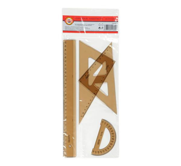 Купить Набор чертежный Koh-I-Noor 4 предмета геометрический средний, KOH–I–NOOR, Чехия