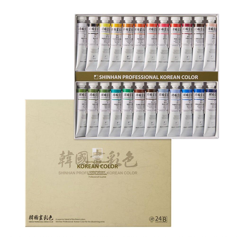 Купить Набор акварели ShinHanart Korean Color B 24 цв*20 мл, ShinHan Art International Inc., Южная Корея