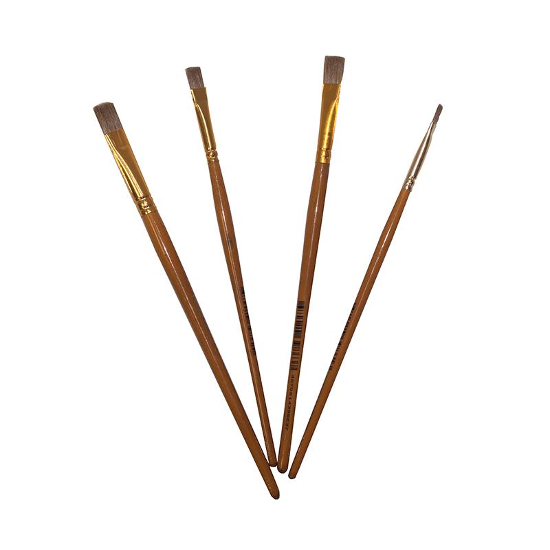 Купить Кисть колонок плоская Pinax Creative короткая ручка, Китай