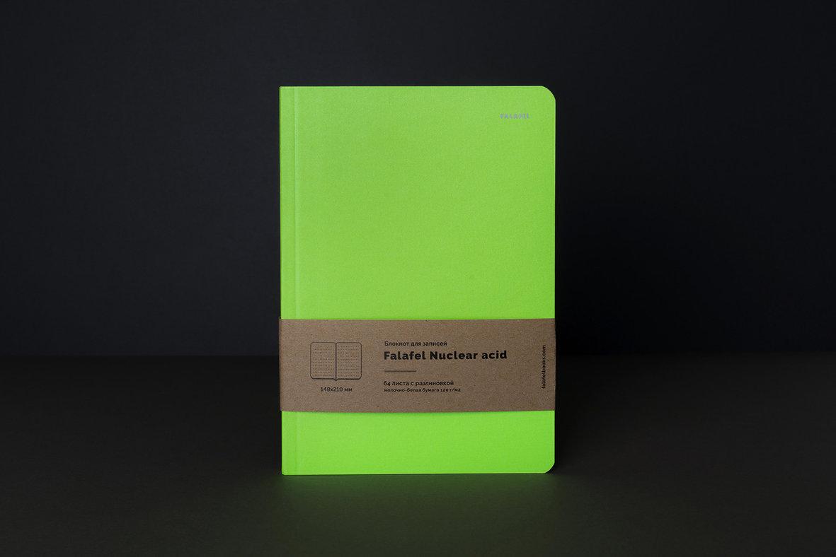 Купить Блокнот для записей FALAFEL BOOKS А5 Nuclear acid, Россия