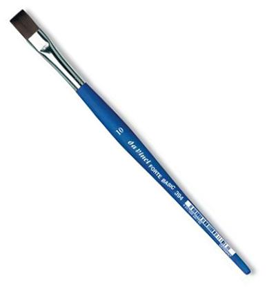 Купить Кисть синтетика №10 плоская Da Vinci 394 короткая ручка, Германия