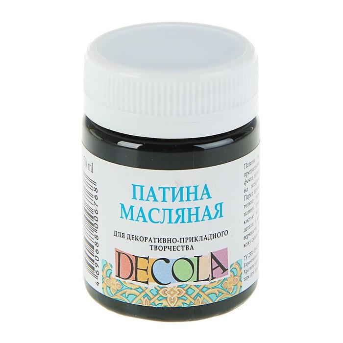 Купить Патина масляная Decola 50 мл Черная, Россия