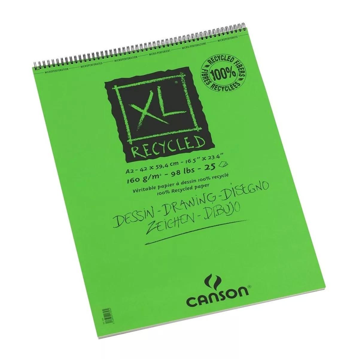 Купить Альбом для графики на спирали Canson XL Recycled 42х59, 4 см 25 л 160 г, Франция