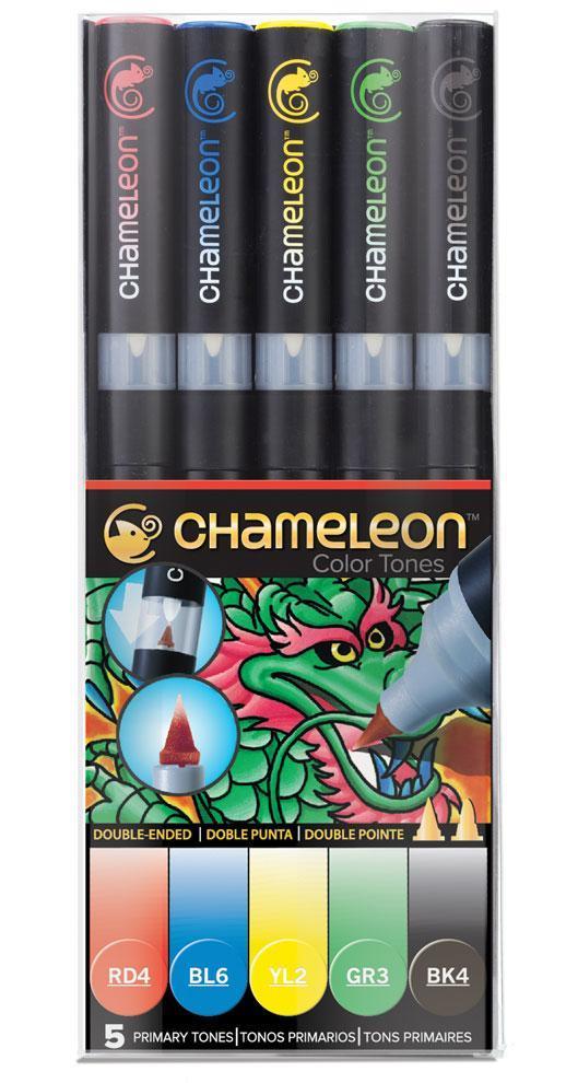 Купить Набор маркеров Chameleon Primary Tones основные цвета 5 шт, Chameleon Art Products Ltd., Великобритания
