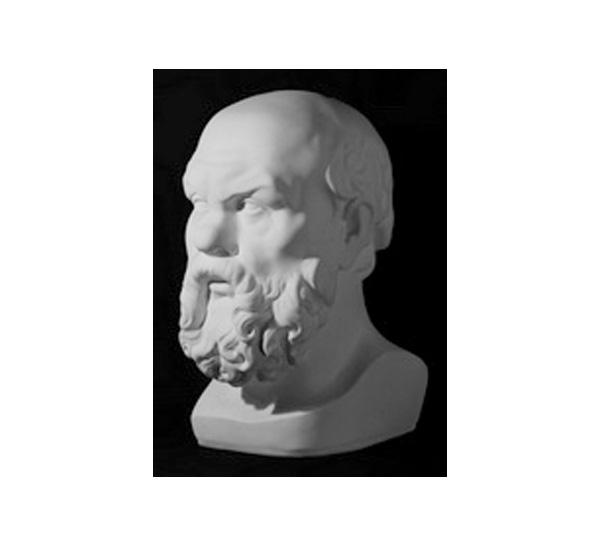 Купить Гипс Голова Сократа, Мастерская Экорше , Россия