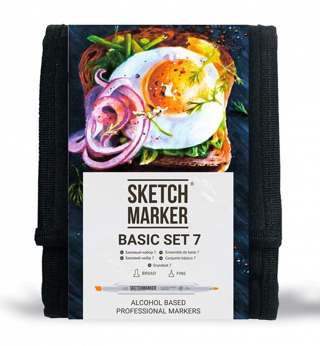 Купить Набор маркеров Sketchmarker Basic set 7 12 шт, Япония