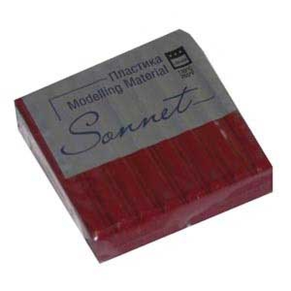 Купить Пластика для запекания Sonnet 56 г с блестками Вишневый, Сонет, Россия
