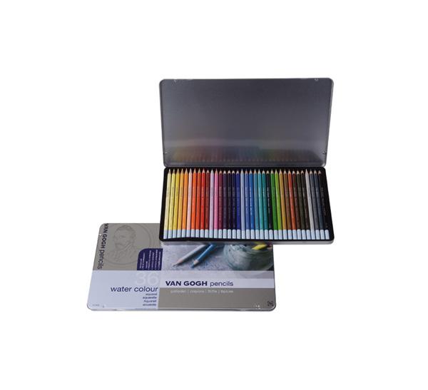 Купить Набор карандашей акварельных Talens Van Gogh 36 цв в метал кор, Royal Talens