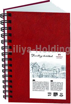 Купить Блокнот для эскизов Лилия Холдинг Travelling sketchbook А5 80 л 130 г Портрет красный, Россия